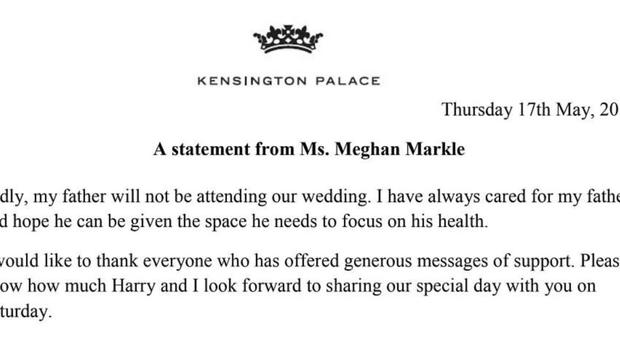 Statement from Kensington Palace