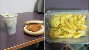 Some of the food offered to asylum seekers by Mears (Positive Action in Housing/PA)