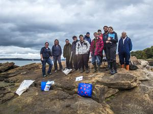Volunteers taking part in the Marine Conservation Society's Great British Beach Clean event in September (Marine Conservation Society/PA).