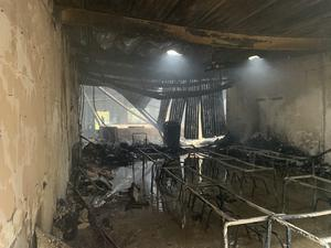 St Mary's School in Darley Abbey suffered a 'devastating' fire on Saturday (Derbyshire Fire and Rescue Service/PA)