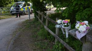 Flowers left outside Havant Thicket (Ben Mitchell/PA)