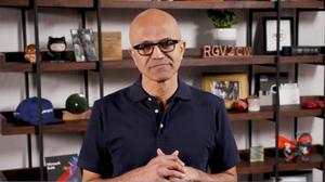 Satya Nadella was speaking at the virtual opening of Build (Screengrab/PA)