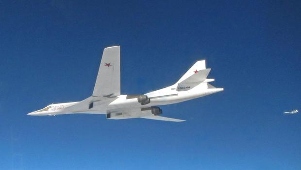 Russian Tupolev TU-160 Blackjack aircraft have been intercepted by RAF jets (MoD/PA)