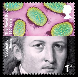 A stamp released in 2010 celebrating Dr Edward Jenner's achievements in the fight against disease (Royal Mail/PA)