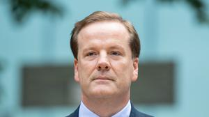 Former Conservative MP Charlie Elphicke, arriving at Southwark Crown Court, where he faces three charges of sexual assault (Cominic Lipinski / PA)