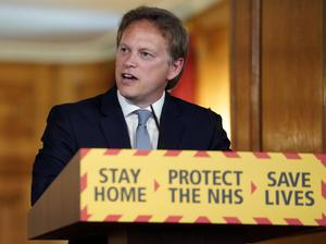 Transport Secretary Grant Shapps during a media briefing in Downing Street (Pippa Fowles/10 Downing Street)