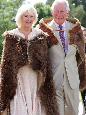 The Prince of Wales and the Duchess of Cornwall during their visit to Tuahiwi Marae (Chris Jackson/PA Wire)