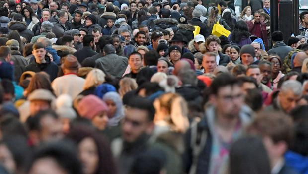 File photo dated 24/12/17 of people on Oxford Street in London. (Victoria Jones/PA)