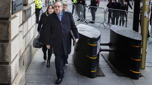 Alex Salmond denies all the charges against him (Jane Barlow/PA)