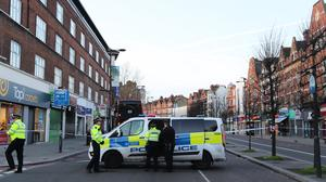 The scene following the attack in Streatham High Road on February 2 (Aaron Chown/PA)