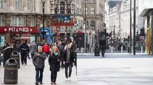 London with busy and empty streets (PA)
