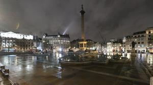 A deserted Trafalgar Square in London on March 19 (Yui Mok/PA)