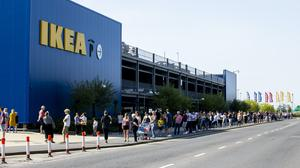 Ikea reopens following lockdown to huge queues of shoppers (Liam McBurney/PA)