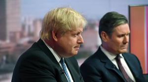 File pic of Boris Johnson and Sir Keir Starmer on The Andrew Marr Show (Victoria Jones/PA)