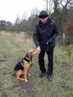 Murder victim Peter Wrighton pictured with one of his two dogs (Norfolk Police/PA)