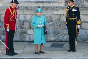 The Queen during a ceremony at Windsor Castle to mark her official birthday (Joanne Davidson/PA)