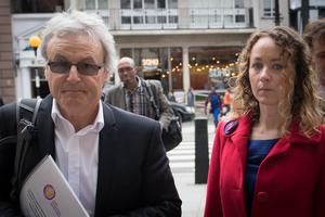 Don Maguire and his daughter Kerry outside the Royal Courts of Justice in London (Stefan Rousseau/PA)