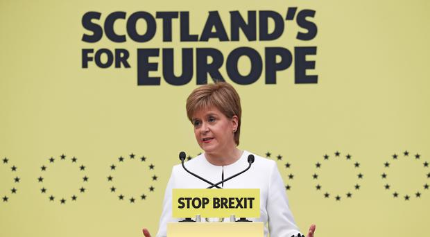 First Minister Nicola Sturgeon said stopping a no-deal Brexit is the priority (Jane Barlow/PA)
