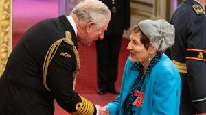 Mrs Ruth Barnett from London is made an MBE (Dominic Lipinski/PA)