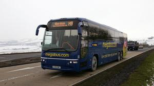 Megabus coach services in England and Wales will be suspended by Sunday, owner Stagecoach has announced (Graeme Hart/Perthshire Picture Agency/PA)