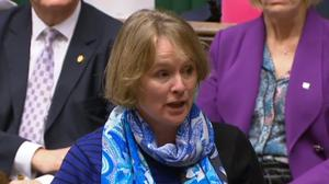 "Vicky Ford MP raises a point of order saying that she had heard the words ""stupid woman"" being used about her in the chamber, and requesting an apology from Speaker John Bercow, in the House of Commons, London."
