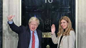 Boris Johnson was sent daily letters by his fiance Carrie Symonds (Yui Mok/PA)