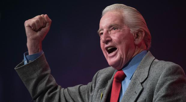 Dennis Skinner addressing the Labour Party annual conference (Stefan Rousseau/PA)
