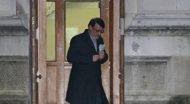 Hamid Baeidinejad leaves the Foreign and Commonwealth Office (Jonathan Brady/PA)
