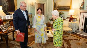 The Queen with Australian Prime Minister Scott Morrison during a private audience at Buckingham Palace in June 2019 (Dominic Lipinski/PA)