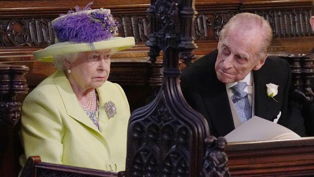 The Queen and Duke of Edinburgh during the wedding service (Jonathan Brady/PA)