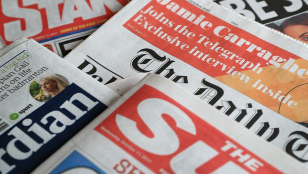 A collection of British newspapers – February 1