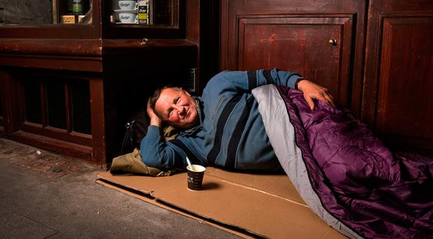 Marion, one of the people featured in Mark Nixon's homeless photography blog in Dublin