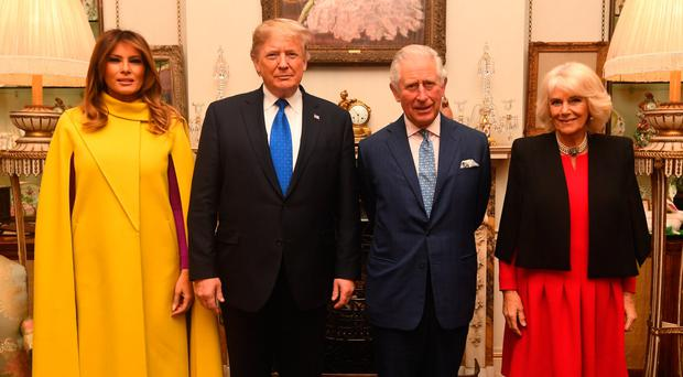 Prince of Wales and Duchess of Cornwall meet US President Donald Trump and wife Melania at Clarence House