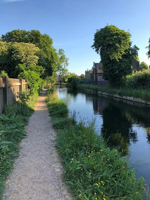 A survey for the Ramblers found only 57% of people were within a five-minute walk greenery such as canal towpaths (Emily Beament/PA)
