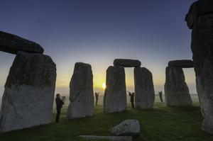 Musicians rehearsing at Stonehenge in Wiltshire ahead of English Heritage's celebrations marking 100 years since Stonehenge was donated to the nation (Christopher Ison/English Heritage/PA)