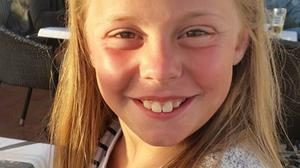 Kiera Broadhead, aged eight, who died in the house fire