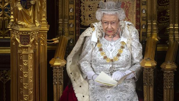 The Queen wearing the George IV diadem at the State Opening of Parliament this year (Victoria Jones/PA)