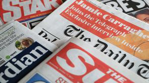 A collection of British newspapers – March 28