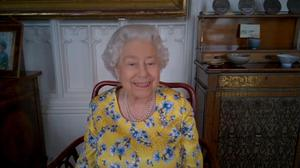 The Queen joined the unveiling virtually (WebEX/PA)