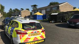 The scene in Normanhurst Close, Lowestoft, where a man has been arrested on suspicion of the commission, preparation or instigation of acts of terrorism (Sam Russell/PA)