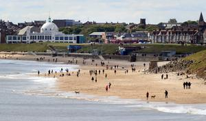 But people were able to enjoy the beach at Whitley Bay (Owen Humphreys/PA)