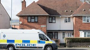 Police presence outside a property on Kent Road in Wolverhampton, as an 11-year-old girl, named by West Midlands Police as Jasmine Forrester, has died in hospital after being stabbed (Aaron Chown/PA)