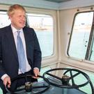 Prime Minister Boris Johnson, pictured on a ferry to the Isle of Wight, has promised to 'level-up' the UK's regions after his general election victory (Dominic Lipinski/PA)