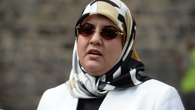 Fatima Boudchar outside the Houses of Parliament (Kirsty O'Connor/PA)