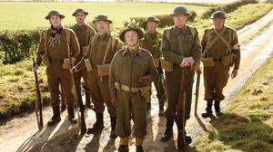 The cast of the new Dad's Army film including Toby Jones, centre, as Captain Mainwaring (Universal Pictures/PA)