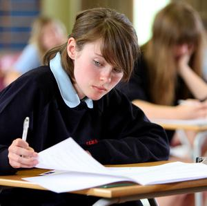 Statistics showed a 40% drop in the numbers of youngsters taking the exams before they were 16