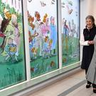 The Duchess of Cornwall during a visit to Birmingham Children's Hospital (Jacob King/PA)