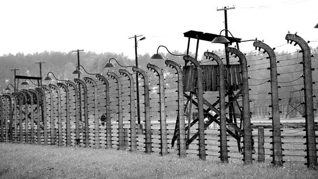 Auschwitz concentration camp in Poland (Owen Humphreys/PA)