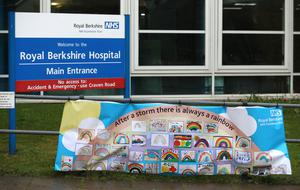 A hopeful message outside the Royal Berkshire Hospital in Reading (Andrew Matthews/PA)
