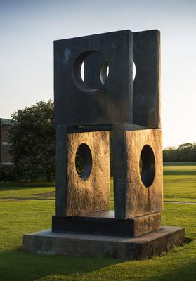 Hepworth created the bronze Four-Square (Walk Through) in 1966 (Barbara Hepworth Museum/PA).